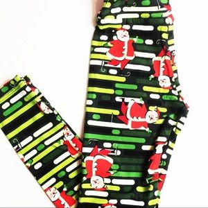 💕 LuLaRoe leggings Tween Christmas green bars
